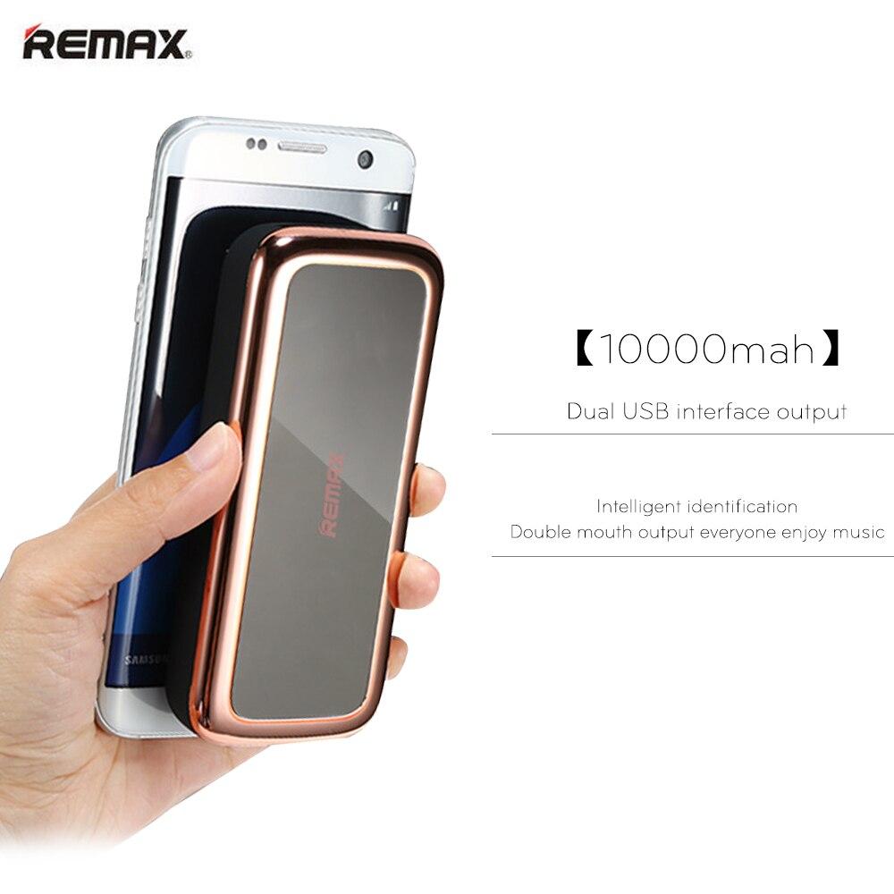 imágenes para Remax universal banco portable móvil 10000 mah powerbank 5500 mah cargador de batería externa para el iphone de lujo mi poverbank