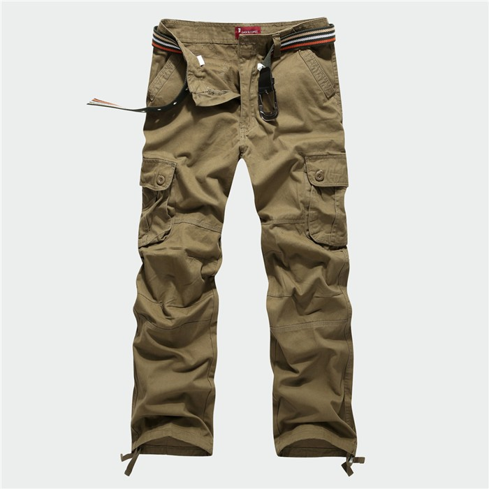 BOLUBAO New Men Cargo Pants Men Multi Pockets Pants Military Camouflage Track Pants Trousers Mens Elastic Waist Pant 35
