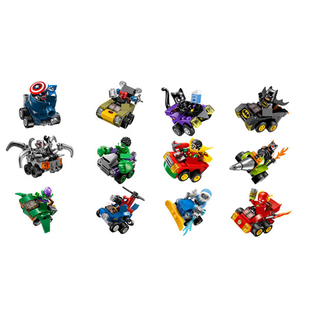 hot compatible LegoINGlys Marvel Super hero Avengers War chariot Building blocks Batman Spider-Man US captain brick figures toys hot compatible legoinglys marvel super hero avengers batman fighter building blocks modle robin clown figures brick toys gift