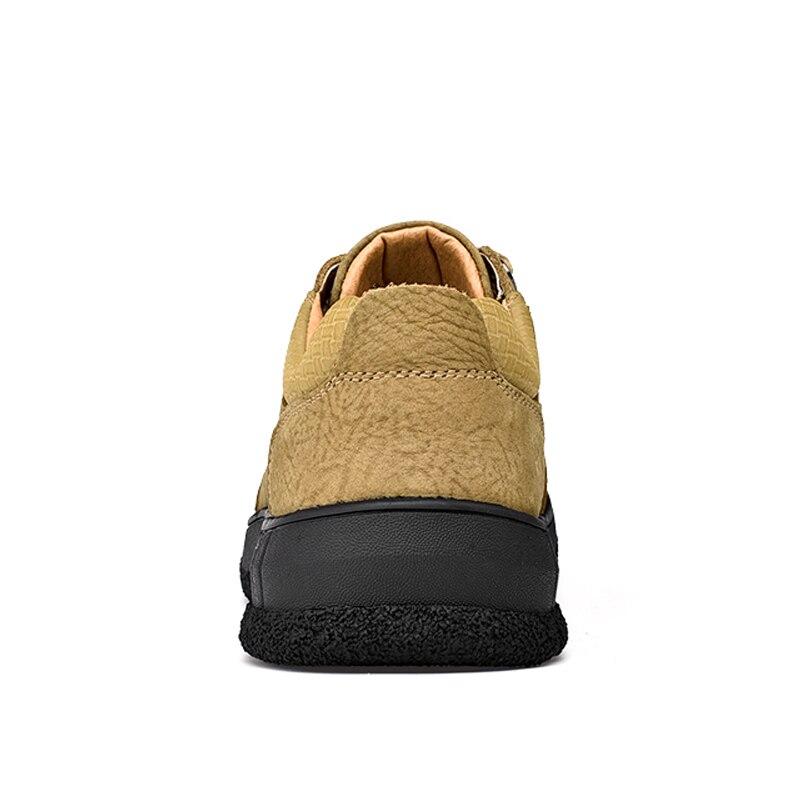 Casuais khaki Size Caminhada Tênis Respirável Brown Suede Outono Plus New Couro Comfort Livre Sapatos Ar black Dark Dos Homens Ao De Para av1BIxvwq
