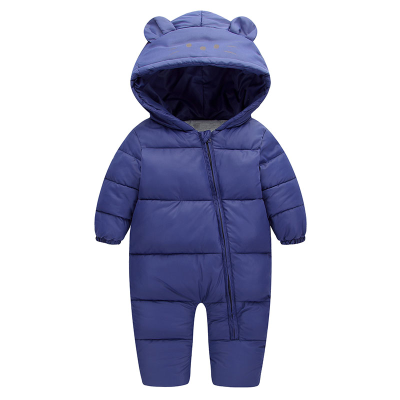2017 New Baby Rompers Winter Thicking Warm Baby Boy Clothing Long Sleeve Cartoon  Hooded Jumpsuit Kids Newborn Outwear For 0-24M warm thicken baby rompers long sleeve organic cotton autumn