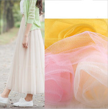 10yards/lot Soft tulle fabric netting solid color 160cm wide polyester mesh ground roll for wedding dress