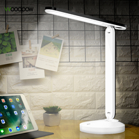 Woodpow USB Charging Eye Protection LED Desk Lamp Touch Sensor Folding Table Lamp 3 Level Dimmable Light For Reading Book