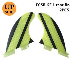 Image 4 - Surf Fcs 2 K2.1 Rear Fin Geel Glasvezel Quilhas Fcs Ii K2.1 Achter Vinnen Surf Board Quilhas Vinnen Fcsii Vinnen in Surfen