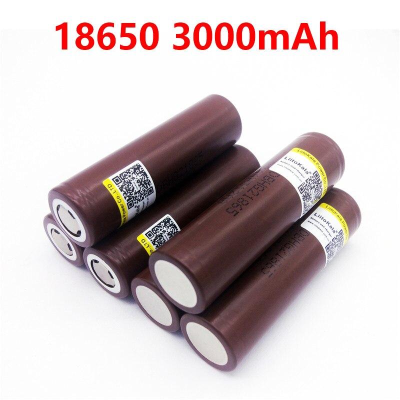 LiitoKala HG2 18650 3000 mAh 3 7V for e cigarette 18650 30A high drain rechargeable battery