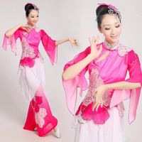 Women Costume Chinese Ancient Traditional Plus Size Dress Chinese Yangko Dance Costume Folk Dance Costume Fan Dance Costumes