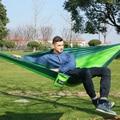 Al aire libre hamaca doble portátil de tela de paracaídas 2 Persona hamaca hamak rede jardín silla colgante dormir viajes swing hamac