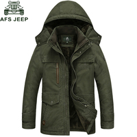 Afs Jeep 2017 Brand New Winter Coat Male Parka Men Thick Warm Wool Liner Hooded Collar