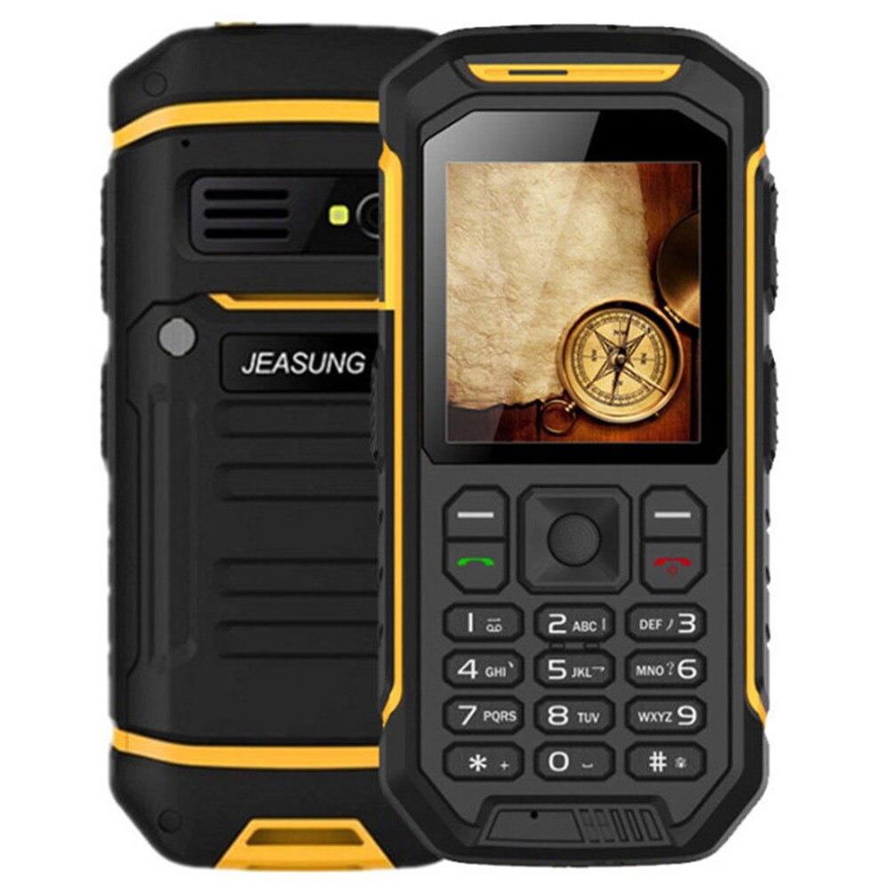 X6 30 mo RAM 30 mo ROM MTK6260A 2.4 pouces TFT IPS écran IP68 étanche Bluetooth double SIM 2G téléphone à barre Mobile