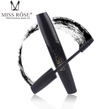 Miss Rose Professional Brand Makeup 4D Fiber Brush Eyelash Extensions Thick Curling Black Mascara Waterproof Cosmetics