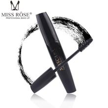 Miss Rose Professional Brand Makeup 4D Fiber Brush Eyelash Extensions Thick Curling Black Mascara Waterproof Cosmetics