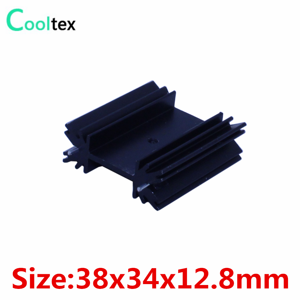 5pcs/lot 38x34x12.8mm TO220 TO-220 heatsink heat sink radiator for IC triode 7805 MOS Diode Dynatron integrated circuit cooling lm78h05k lm78h05 7805 to 3