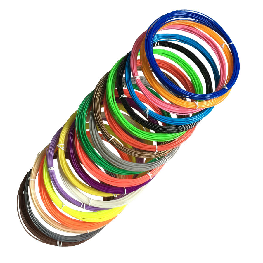 New 5 color or 10 color set 5 Meters ABS Plastic Wire 1 75mm 3D Printer