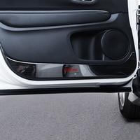 Stainless Steel Door Anti Kick Mat Dust Proof Protection r For Honda HRV HR V 2015 2016 2017 2018 car styling