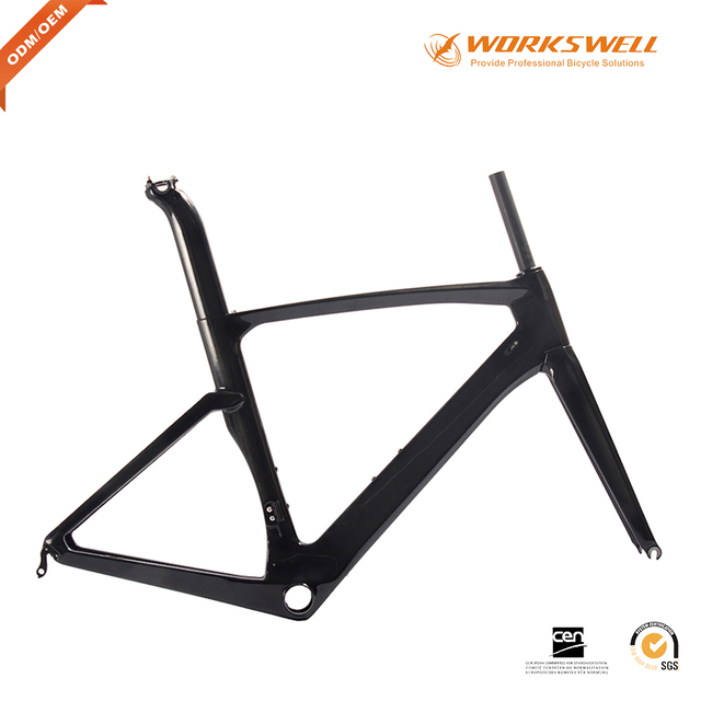 Glossy Road Bike 700C Bicycle Cycling Frame Carbon Road Bike Frame Aero  Carbon Frame Bike Frame