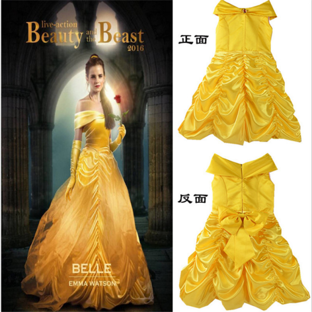 Princess Belle Flower Fairy Tutu Dress Kids Fancy Party Christmas Halloween Dress Beauty Beast Cosplay Costume  sc 1 st  AliExpress.com & Princess Belle Flower Fairy Tutu Dress Kids Fancy Party Christmas ...