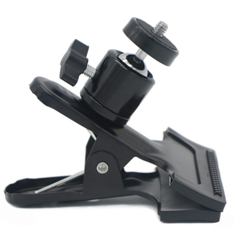 Camera Clip Photography Metal Clip Clamp Holder Mount with 360 degree rotate Head 1/4 inch Screw for Camera Flash Holder Bracket universal cell phone holder mount bracket adapter clip for camera tripod telescope adapter model c