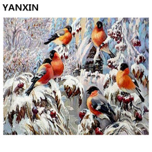 YANXIN DIY Frame Painting By Numbers Oil Paint Wall Art Pictures Decor For Home Decoration E852