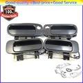 FL FR RL RR Set of 4 Black Outside Door Handle For Toyota Camry 1992 1993 1994 1995 1996  69240-33010  69220-33020  2.2L 3.0L