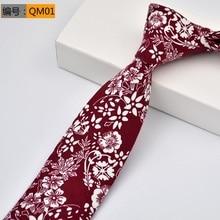 Floral ties Fashion Cotton Paisley Ties For Men Corbatas Slim Suits Vestidos Necktie Party Vintage Printed Gravatas 6CM