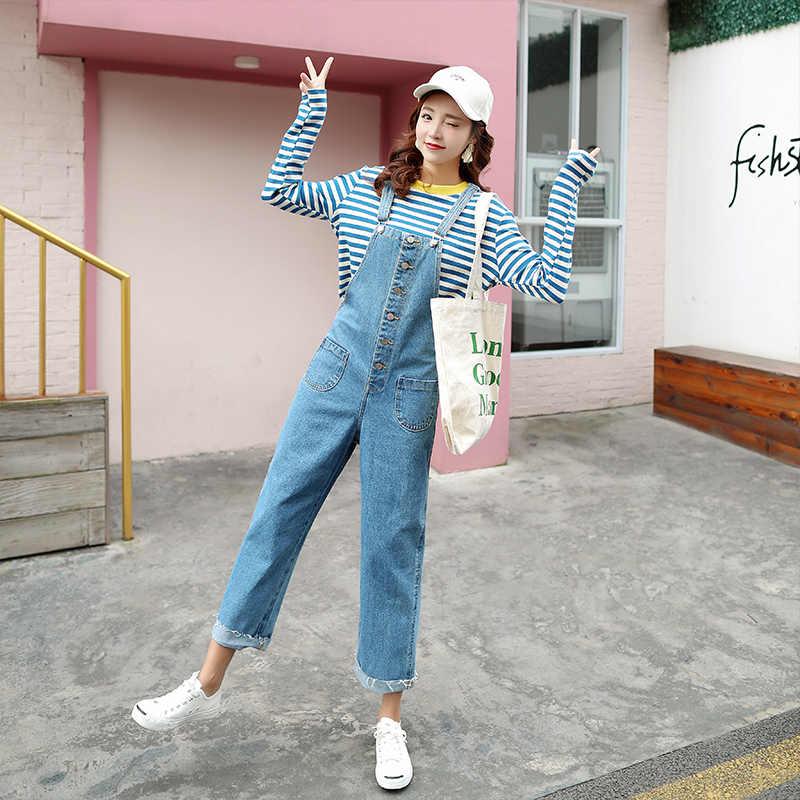 28234db3dac6 ... Hot Vogue Clothes Women Denim Jumpsuits Cotton Strap Rompers Trousers  Loose Casual Vintage Overalls Pants Female ...