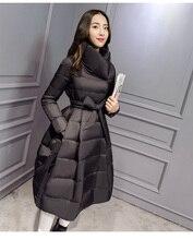 Korea New Fashion Women Winter Coat Thickening Super Warm White duck down Down jacket Elegant Slim Leisure Big yards Coat G0578