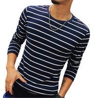 새로운 패션 남성 스트라이프 티셔츠 캐주얼 슬림 맞는 긴 소매 T 셔츠 남성 언더 최고 티 브랜드 옷 플러스 사이즈 5XL