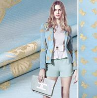 The spring and autumn light blue French stereo jacquard brocade fashion fabric Butterfly Gold Fashion Square cloth