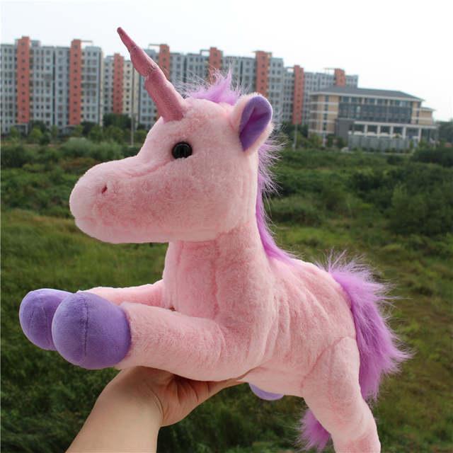 Online Shop Cute Pink Unicorn Plush Toys Kids Baby Stuffed Animal