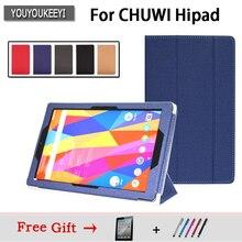 Оригинальный PU кожаный чехол для chuwi HIpad 10,1 дюймов планшет, защитная подставка для chuwi hipad Закаленное стекло пленка + 2 Подарки