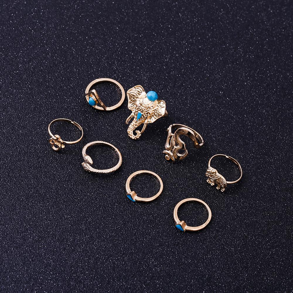 HTB1JHbjRVXXXXcsXXXXq6xXFXXXY Fashionable 8-Pieces Boho Retro Spirituality Symbols Stackable Midi Ring Set