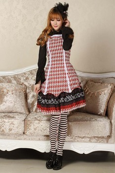 JSK Lolita Cute Lolita Costume Evil Princess Style Lovely Print Lolita JSK Red