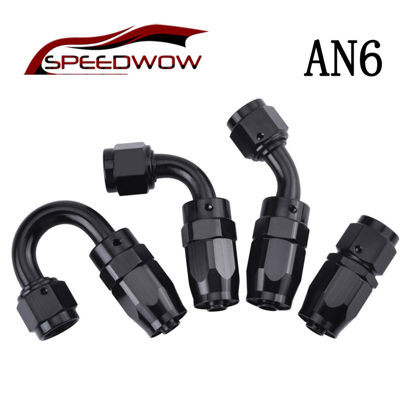 EVIL ENERGY 4AN Straight Swivel Hose End Fitting for braided fuel line Aluminum Alloy black