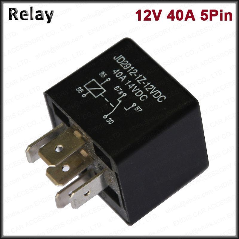 2pcs Motor Car Relay 5 Pin 12v 24v Coil 40amp Spdt 40a