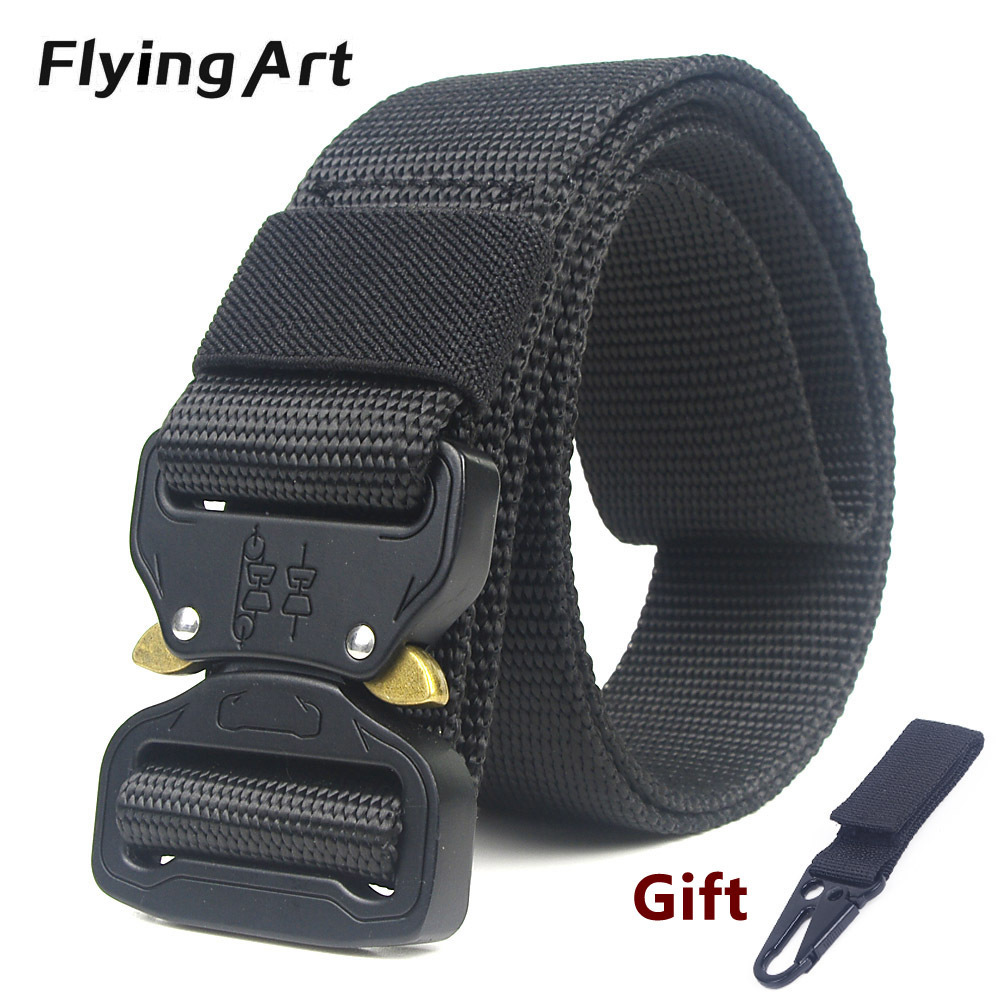 Military Equipment Knock Off Army Belt Men's Heavy Duty US Soldier Combat Tactical Belts Sturdy 100% Nylon Waistband 3.8cm