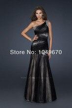 Elegant Eine Schulter Porm Kleider Kristall Bodenlangen Mantel Abendkleid Reizvolles Geöffnetes Zurück 2014 Freies Verschiffen Für Party N365