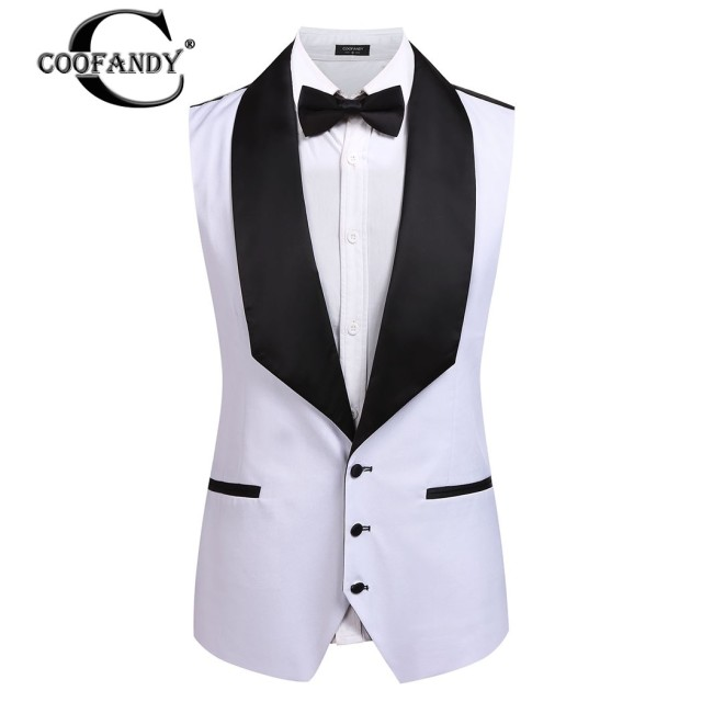 6315fa60778 US $18.0 19% OFF|COOFANDY Formal Waistcoat Suit Gentlemen Wear Male Clothes  Single Breasted Button Down Patchwork Slim Fit Business Vest Men-in Vests  ...