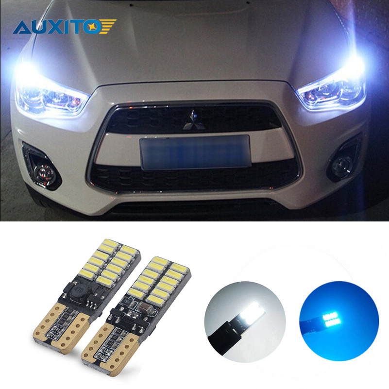 T10 LED W5W Car Parking Clearance Light For Mitsubishi Asx Lancer 10 Outlander Pajero Sport 9 L200 Colt Carisma Galant Grandis for mitsubishi asx lancer 10 9 outlander pajero sport colt carisma canbus l200 w5w t10 5630 smd car led clearance parking light