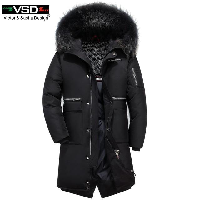 VSD новый 90% Для мужчин и Для женщин досуг пуховики качество красивый теплый модные зимние Костюмы Повседневное пальто мужской парки VS521