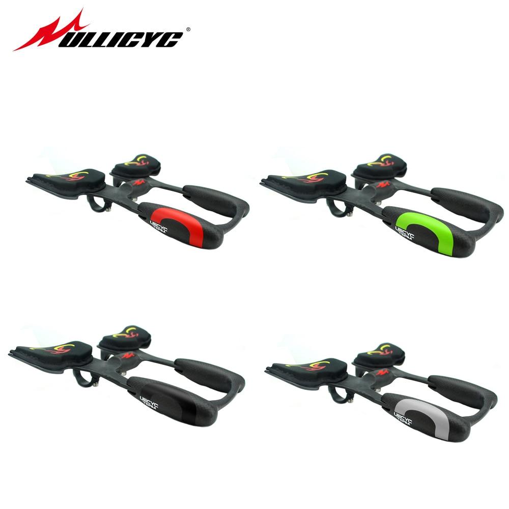 25 * 22.5 * 6cm Bicycle Handlebar Bike Racing Aero Bar Carbon Fiber Bicycle Aerobar Road Triathlon Arm Rest Handlebars TT200(China)