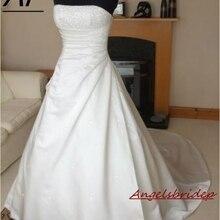ANGELSBRIDEP свадебное платье Vestidos De Novia модное платье невесты длиной до пола с кристаллами длинное вечернее платье свадебное платье онлайн горячая распродажа