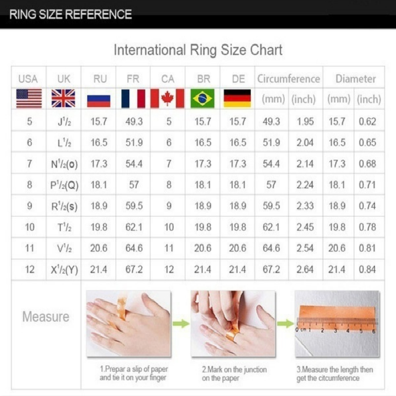 Dazzling Silver Natural Jewelry White Ring Bride Wedding Engagement Jewelry Ring Size 5 6 7 8 9 10 11 12 1
