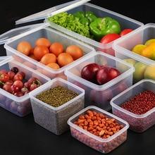 Большой кухонный ящик для хранения пластиковых банок, прозрачный контейнер для хранения продуктов, сохраняющий свежесть, кухонные аксессуары, холодильник