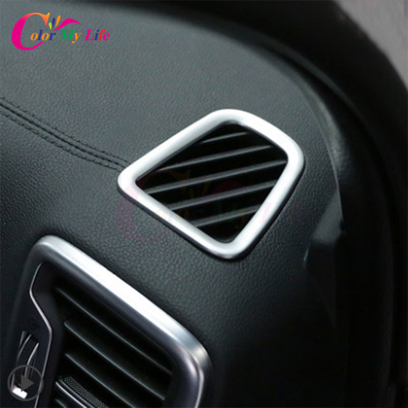 2 Pcs/Set Stainless Steel Car Air Vent Circle Trim Air Conditioner Protection Sticker for Kia Sportage Kx5 QL 2016 2017 Parts