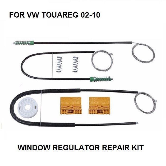 NEW FOR VOLKSWAGEN VW TOUAREG 7LA, 7L6, 7L7 2002-2010 ELECTRIC WINDOW REGULATOR REPAIR KIT FRONT RIGHT SIDE OE#8E0837462