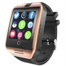 Q18 Bluetooth Relógio Inteligente Com Câmera Relógio De Pulso Suporte do Cartão SIM Para Ios Android Telefones Samsung PK DZ09 A1 T8 GT08 GV18 Y1 X6