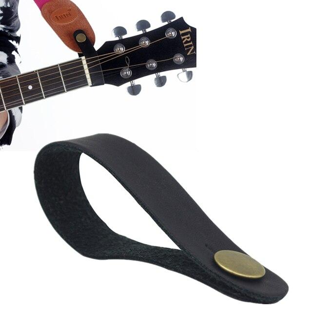 שחור עור גיטרה רצועת בעל כפתור בטוח נעילה עבור אקוסטית חשמלי קלאסי גיטרה בס אבזרים