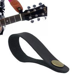 Черный кожаный ремешок для Гитары держатель Кнопка безопасный замок для акустической для классической электрогитары аксессуары для
