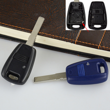 OkeyTech Car Key Shell For Fiat Punto Doblo Bravo Blank Replacement Transponder Case Fob 1 Button With Electronic Clip