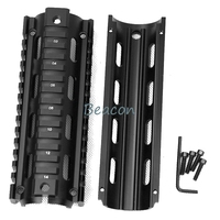 Tactical Airsoft Rifle Accessories 6.7 Metal Inch AR 15 M4 Handguard Carbine RIS Quad Rail Picatinny Mounting 4 holes